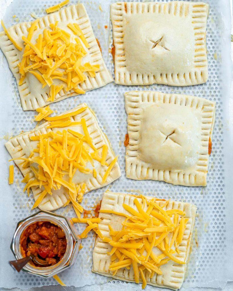Savory Cheese Pie With Raureni Zacusca Filling